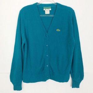 EUC Lacoste vintage V neck button front cardigan